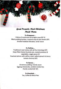 Christmas Meal Menu (click to enlarge)